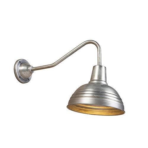 QAZQA Industriel Applique Murale industrielle zinc antique - Tay Acier Gris Bio E27 Max. 1 x 40 Watt/Luminaire/Lumiere/Éclairage/intérieur/Salon/Cuisine