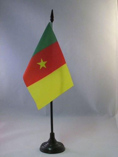 AZ FLAG Drapeau de Table Cameroun 15x10cm - Petit Drapeaux DE Bureau camerounais 10 x 15 cm