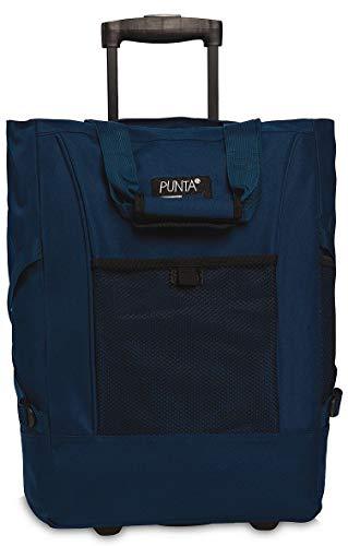 Fabrizio Einkaufstrolley Punta Wheel-Shopping-Roller 52 cm 36 Liter 2 Rollen Blau