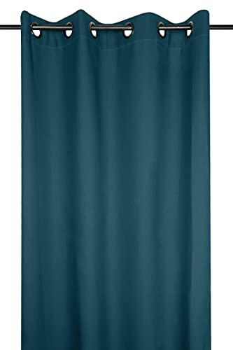Lovely Casa Rideau, 100% Polyester, Bleu Vert Canard, 240x135 cm