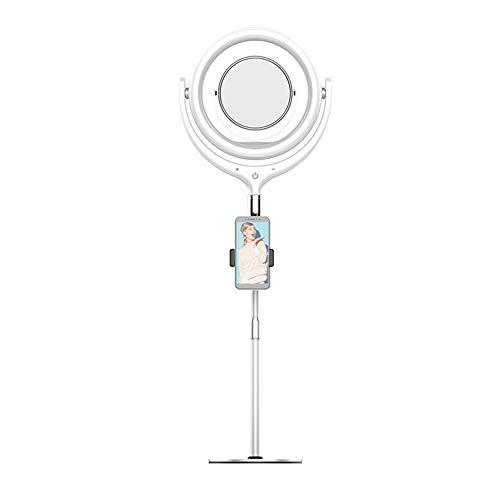 Houshome Conjunto de kit de luz de de preenchimento de LED para mesa de 12 polegadas 3300K-6000K Brilho ajustável para fotografia Live Computador de phone do YouTube com espelho Haste telescópica d