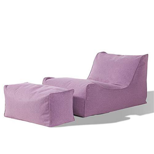 Keliour Sitzsackstuhl Bohnenbeutel for Erwachsene und Kinderstuhl Lagerung, Bohnenbeutel Erwachsene Liege Sack Home Wasserdicht Drinnen Draußen (Color : Purple, Size : One Size)