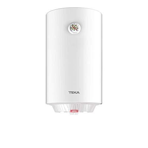 Teka | Termo electrico de 50 litros | EWH 50 C | Consumo medio para 2-3 personas | Tanque esmaltado Zafire | Color Blanco