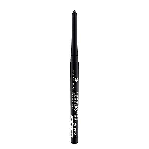 essence LONG-LASTING eye pencil, Kajal, Nr. 01 black fever, schwarz, definierend, langanhaltend, vegan, Nanopartikel frei, ohne Parfüm (0,28g)