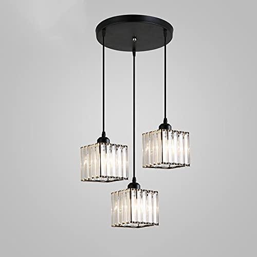 JIUFACAI Lámpara de Techo Ajustable Modern Spiral 3 Lámpara Colgante, Crystal E27 Lámpara Colgante Industrial Portalámparas Estilo Edison, Lámpara Colgante suspendida