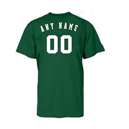 Majestic Athletic Oakland Athletics Personalized Custom (Add Name & Number) Adult Large 100% Cotton T-Shirt Replica Major League Baseball Jersey Green