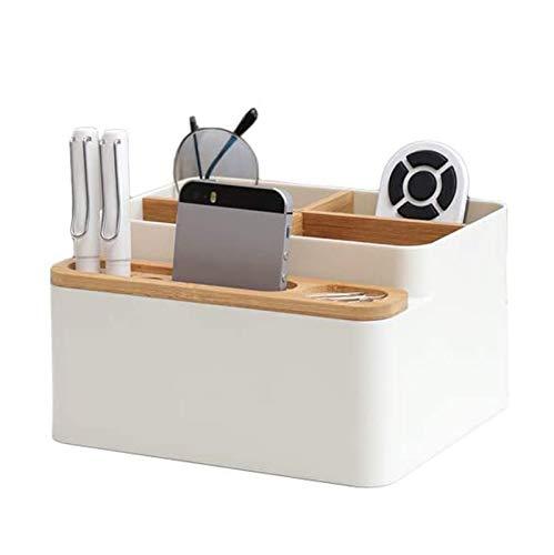 Caja de Almacenamiento de Escritorio de Madera de Estilo japonés Caja de Tejido Simple Control Remoto Cajón, Organizador para Oficina Accesorios para el hogar Inicio