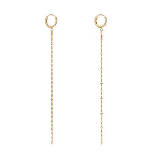 Lange oorbellen voor dames met franjes, van metaal, verjaardagscadeau, goudkleurig