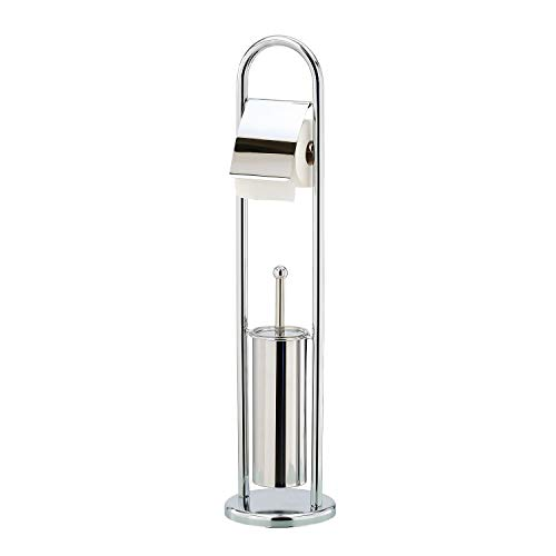Top 10 best selling list for free standing toilet brush and paper holder