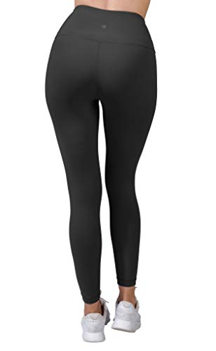 90 Degree By Reflex - High Waist Power Flex Legging - Tummy Control - Black Medium