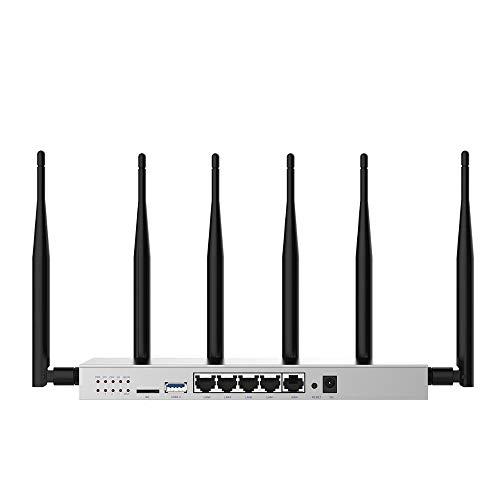 Router 3G 4G con la Tarjeta SIM del módem Ranura Fuerte WiFi Estable Rendimiento de Alta Ganancia de la Antena omnidireccional (Color : A, tamaño : 2.4G(NO 3g4g) EU Plug)