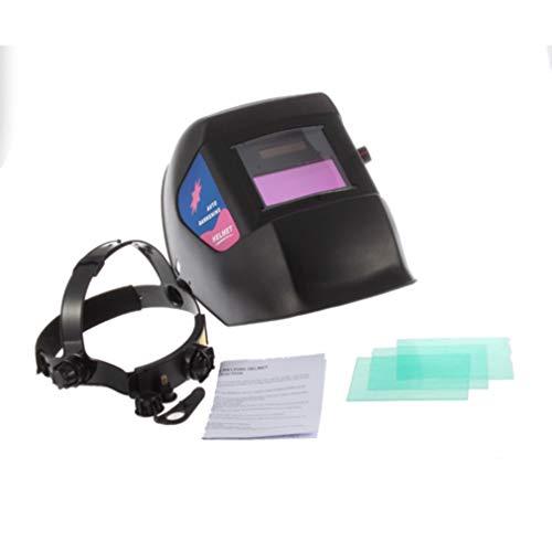 HehiFRlark Solar Auto Oscurecimiento ARC Mig TIG mag Soldadura Molienda Casco Soldador Máscara Negro