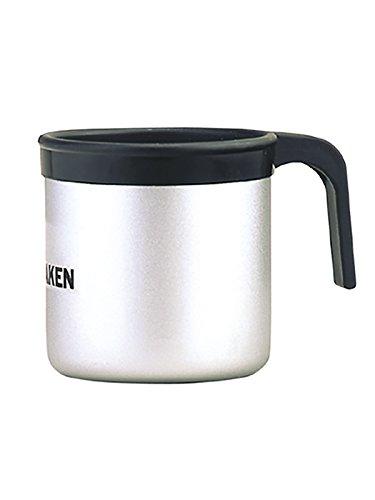 Laken 8.41254E+12 Taza de Aluminio con Borde de Plástico Negro y Asa 0,4L, Adultos Unisex, Gris Claro, 1