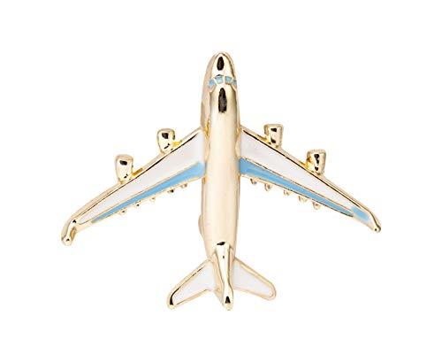 Knighthood Herren Golden Airplane Anstecknadel Brosche/Reversnadel/Lapel Pin/Anzug/Sakko