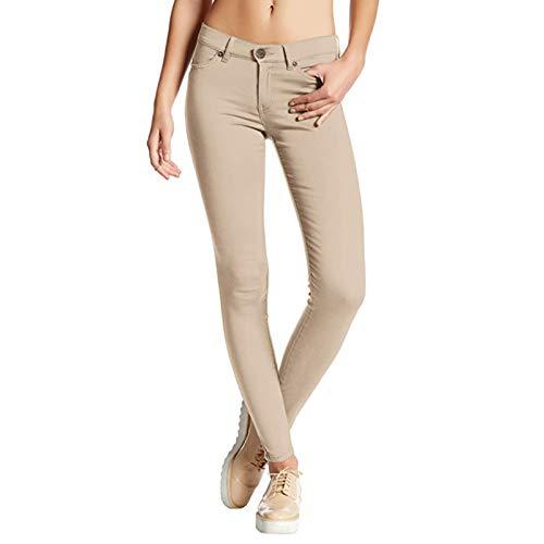 Pantalones Vaqueros Ajustados para Mujer Ocio Diario Color sólido Ropa de Calle cómoda Moda Todo-fósforo Pantalones de Mezclilla de lápiz Sexy 3XL