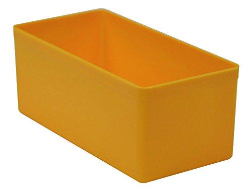 Sparpack (24 St.) Kunststoff-Einsatzkasten Sortierbox, gelb, 108x54x45 mm (LxBxH), aus PS