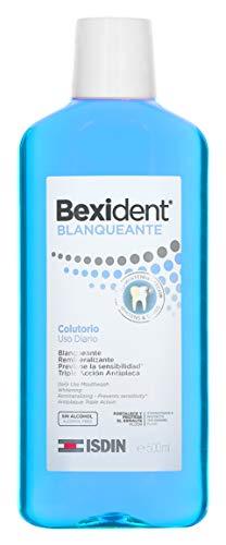 Isdin Bexident Blanqueante Colutorio, Uso Diario, Enjuague Bucal Blanqueante Remineralizante Triple Acción Antiplaca 1 x 500 ml