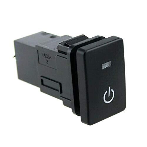 BotóN De Interruptor De Coche Indicadores Luminosos de alimentación del Interruptor del Empuje del botón/for los Toyota/Ajuste for Camry/Ajuste for Prius/Ajuste for Corolla (Color : Black)