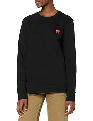Wrangler Herren Sign Off Crew Sweatshirt, Schwarz (Black A01), Large