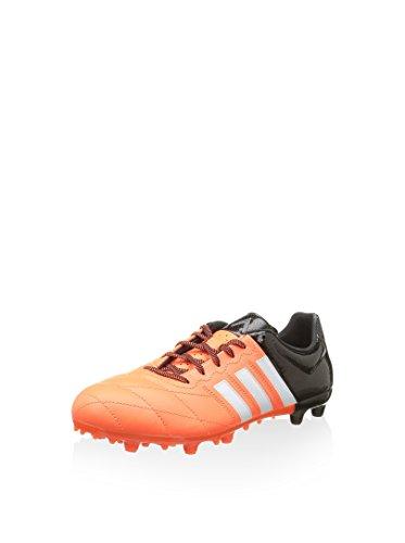 adidas Herren Scarpa Ace Low Fg/Ag Lea Stollenschuh, schwarz/orange, 41 1/3 EU