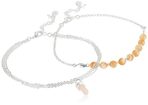 Lucky Brand Jewelry Bead & Pendant Anklet, Silver, One Size