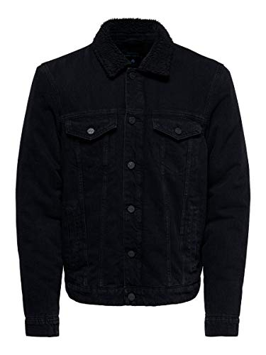 ONLY & SONS Herren Onslouis Jacket Black Pk 3592 Noos Jeansjacke, Black Denim, S EU