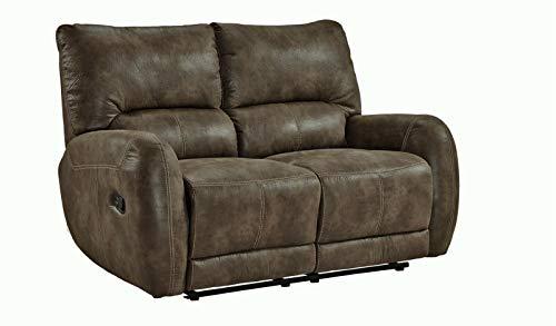 MJC Polstergarnitur 2er Sofa FM-373-2 Braun Relaxfunktion Couch Stoff Wohnzimmer