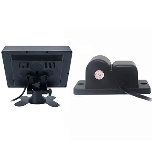 Wakauto Auto-Rückfahrkamerasystem Wasserdichte Rückfahrkamera Auto-Parksensor Radarwarner Umkehrmonitor mit 7-Zoll-Display für Autos LKW Geländewagen Lieferwagen