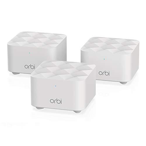 NETGEAR Orbi Whole Home Mesh WiFi System (RBK13) – De vervangende router dekt maximaal 300 m² met 1 router en 2 satellieten