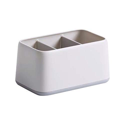 PPuujia Caja de almacenamiento de escritorio para bolígrafos de plástico ABS serie simple en el estante (color: verde claro)