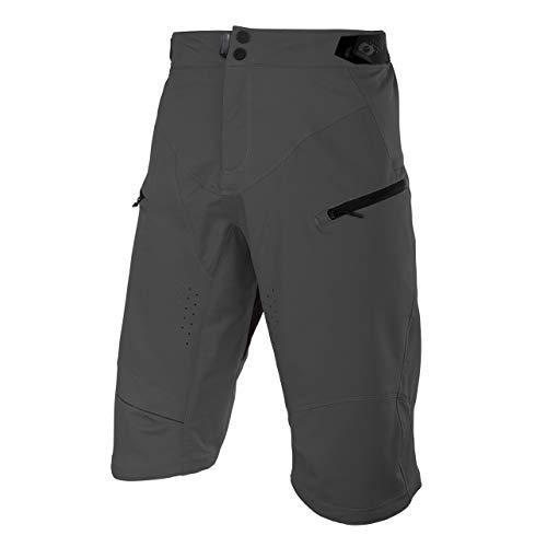 O'Neal | Mountainbike-Hose | MTB Mountainbike DH Downhill FR Freeride | Wasserdichtes, Atmungsaktives Material, Polyester | Rockstacker Shorts | Erwachsene | Grau | Größe 38/54