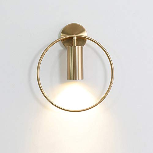 ZHCSYL Wandbeleuchtung Nórdico Línea lámpara de pared de la personalidad creativa del restaurante de noche pasillo de la lámpara LED de la lámpara de pared (Color : Gold)
