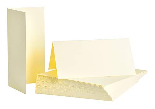 Tischkarten, 8 x 8 cm, 250g/m², 50 Stück Creme