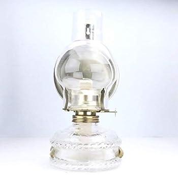 Purism Style - 10.25  Height Glass Kerosene Oil Lamp Lantern