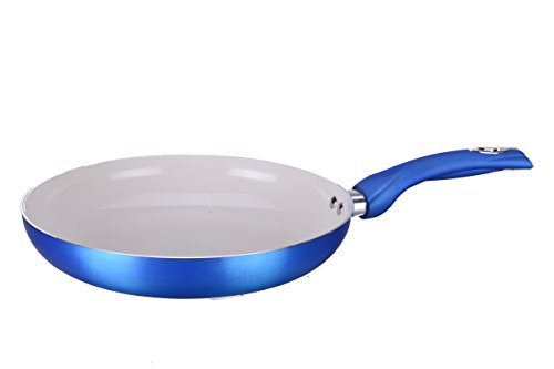 Diamond Home 8 Inch Ceramic Nonstick Fry Pan with Metallic Coating-Blue