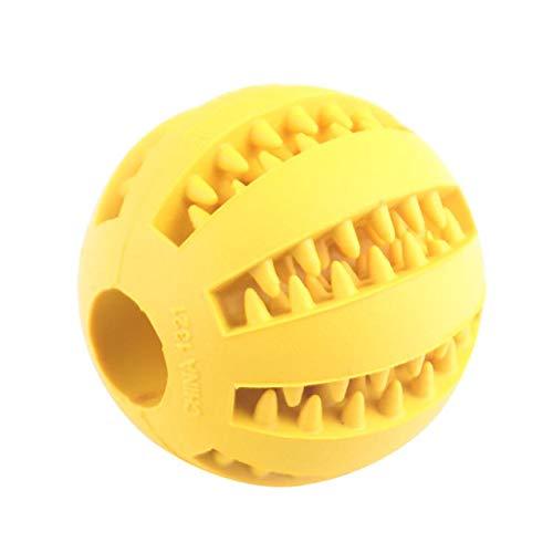 dingdang huisdier molar speelgoed behandelen bal rubber hond molar speelgoed bal molar bal bijten schone tanden lekken voedsel hond molar kauwen bal, Geel