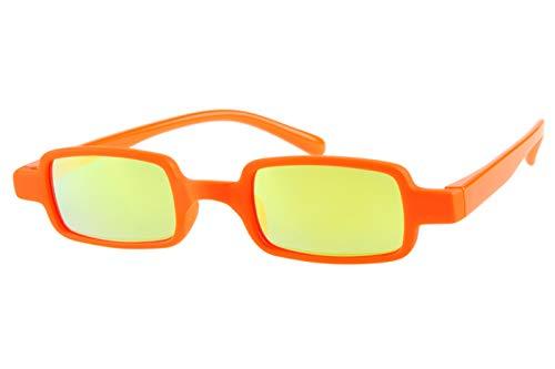 Lesebrillen mit Sonnenschutz getönt verspiegelt Damen Herren orange leicht eckig Kunststoff Dioprien 1.0 1.5 2.0 2.5 3.0, Dioptrien:Dioptrien 1.5