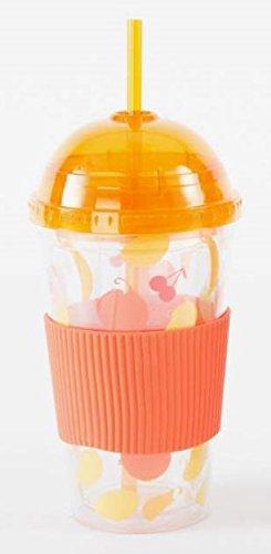 AVENUELAFAYETTE Mug de Voyage - de Transport avec Silicone déco Fruit (Orange)