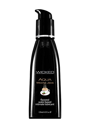 Wicked Sensual Care Wicked Aqua Flavored Water Based Lubricant, Mocha Java, 4 Ounce