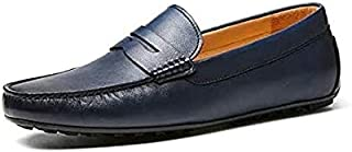 New Style Casual Men's Hoog Shoes Slip-on Loafers, Blue