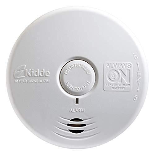 Kidde Smoke Detector, Lithium Battery Powered, Smoke Alarm