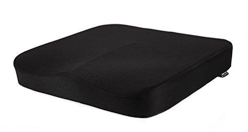 (ヨニトオ)Unittoo低反発座布団冬用クッション椅子車用滑り止めお尻クッション[腰痛対策/坐骨神経痛/体圧分散/骨盤サポート/姿勢矯正]Black