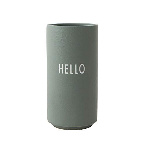 Design Letters Vases Préféré en Porcelaine Fine– Moderne Design Petites Vases décoratif avec différentes Fonctions pour Salon, Cuisine, Table, Maison, Bureau, Mariage, Cadeau Femme – Hello Vert
