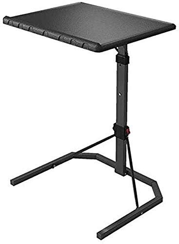 MotBach Lifting Folding Laptop Table Adjustable Height Portable Gaming Computer Desk Household Black