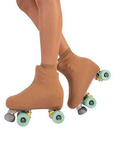 CALZITALY Cubrepatin para Niña y Mujer | Funda Patin/Skate | Professional Skating | Natural, Negro, Caramelo | 70 DEN | S, M, L | Calcetería Italiana | (S: 28/32, Caramelo)