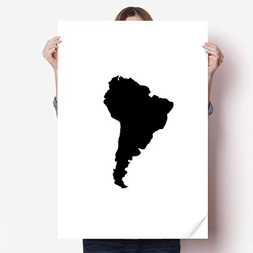 DIYthinker Green Zuid-Amerika Illustratie Kaart Vinyl Muursticker Poster muurschildering Wallpaper Room Decal 80X55Cm