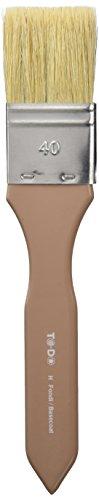 Fleur Paint 90972 - Pincel para fondos (con cerdas blancas, Nº 40) color marrón
