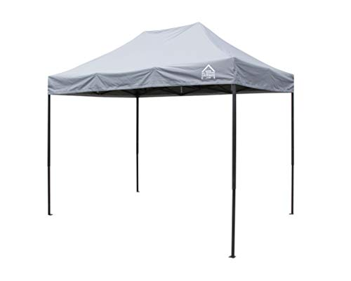 All Seasons Gazebos, 3x2m Heavy Duty Fully Waterproof, Premium Pop Up Gazebo + Carry Bag and Weights (Metallic Grey)