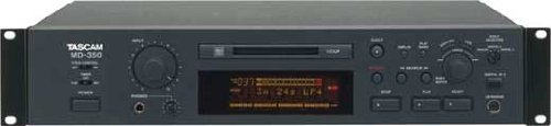 Tascam MD-350 CD-Player & Recorder (5500 g, 483 x 94 x 313 mm, schwarz)