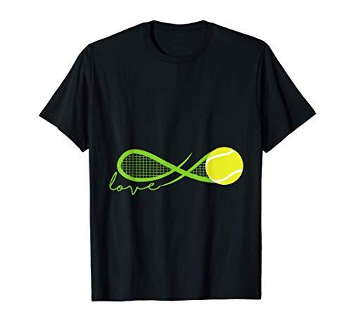 Unendlichzeichen Tennis Tennisball Tennisplatz Geschenk T-Shirt